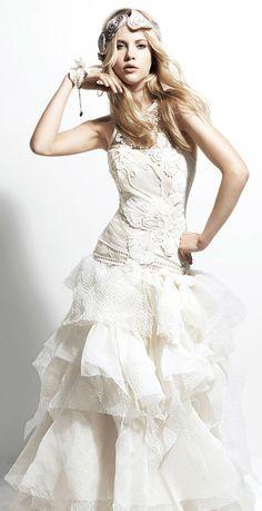 Yolan Cris 2013 Chelsea Girl Egipto sleeveless wedding dress