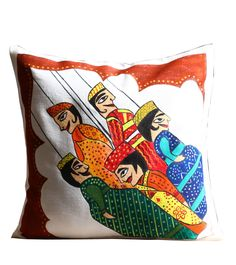 Buy hand painted cotton #cushioncovers with 25% discount at #craftshopsindia