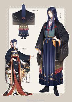 Game Character Design, Character Concept, Character Art, Male Kimono, Anime Kimono, Anime Fanfiction, Tamamo No Mae, Kimono Design, Japanese Outfits