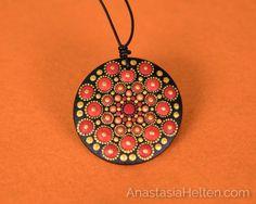 Hand painted pendant - Mandala Pendants