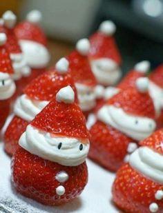 ... Strawberry Santas ...