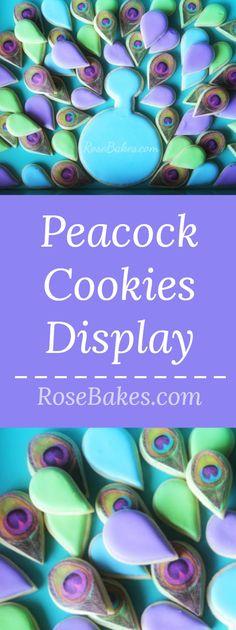 FLDSMDFR Peacock Cookies Wafer Paper Flowers & Ruffles Tutus Tiaras Cake
