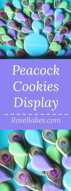 Peacock Cookies Disp