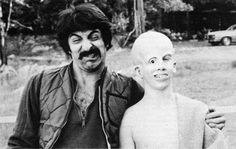 The master of horror special effects the legendary Tom Savini with Ari Lehman as young Jason Voorhees behind the scenes of Friday The Horror Icons, Horror Films, Horror Art, Funny Movies, Scary Movies, Friday The 13th Music, Tom Savini, Movie Popcorn, Cinema