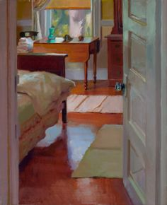 ◇ Artful Interiors ◇ paintings of beautiful rooms - Guest Room by Lea Colie Wight