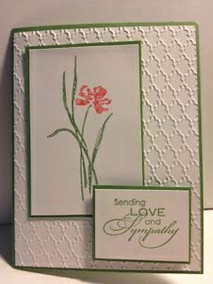 Love & Sympathy  Sympathy card  Stampin' Up!  Rubber Stamping