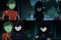 Justice League vs Teen titans: Raven and Beast boy