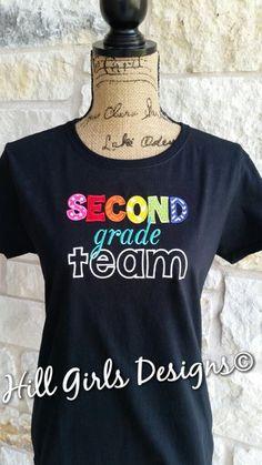 083e3545 Teacher Appliquéd Shirt - Grade Level Team Shirts (First Grade to Fifth  Grade)