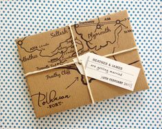 Travel Wedding Invitation  Sample only by PeahenStationery on Etsy, £3.00
