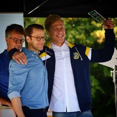 Prince Daniel were at Haga Park in Solna at Stockholm Sports Day with Princess Victoria and Princess Estelle 7 September 2014