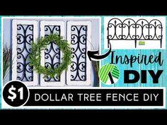 Dollar Tree Frames, Dollar Tree Decor, Dollar Tree Store, Dollar Store Crafts, Windmill Decor, Diy Garden Fence, Distressed Frames, Tree Wall Decor, Tree Crafts