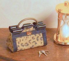 Dollhouse Miniature Leopard Print Purse | Flickr - Photo Sharing!