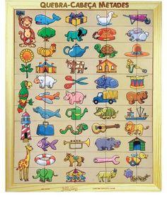 Jogo Quebra Cabeça Metades - Brinquedice