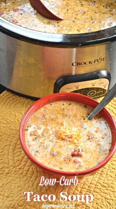 Whether you are eating low-carb, gluten-free, or a keto diet, this crock pot low-carb taco soup is sure to leave all loving it regardless of if you are on a diet or not.