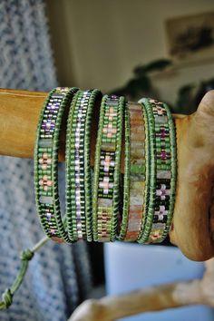 GREEN SPRING 5 Wrap natural Green by BraceletsofBlueRidge, $105.00