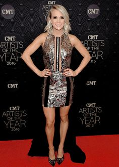""""""" Carrie Underwood arrives on the red carpet at CMT Artists of the Year 2016 on October 19, 2016 in Nashville, Tennessee. """""""