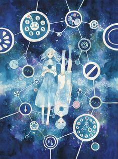 すれ違いの星屑  数年前に作った画集に収録していた絵です。 気に入ってます。  #art #illustration #manga