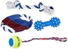 Trixie Kit de jeu pour chien: Dans un sac fermé 1Dog Disc, Ø 18cm-1Corde de jeu 30cm-1jeu de tennis balle sur corde, Ø 6cm/37cm…