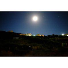 Untitled #skantzman #heraklion #crete #colour #velvia #fujixe2s #28mm #moon #car #manolisskantzakis #photography #emptiness #sky