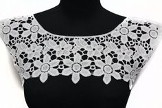 White Necklace Lace Crochet Collar Yoke Applique by STARibbon on Etsy https://www.etsy.com/listing/239113241/white-necklace-lace-crochet-collar-yoke