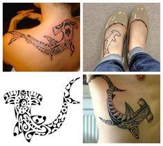 Squalo Martello Polineasiano Tatuaggio con Significato di Forza e Coraggio
