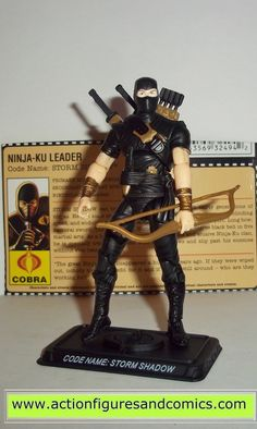 gi joe STORM SHADOW 2008 v32 black ninja ku 25th anniversary gijoe cobra action figures