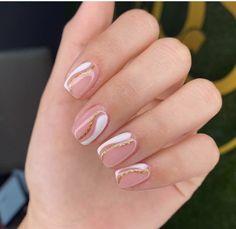 Cute Gel Nails, Cute Acrylic Nails, Acrylic Nail Designs, Pretty Nails, Fabulous Nails, Perfect Nails, Modern Nails, Almond Acrylic Nails, Oval Nails