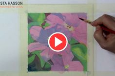 Clematis Video a Demo in Watercolor by Krista Hasson.