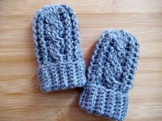 "Learn how to crochet Baby Mittens. Front Post double crochet and Back Post double crochet, cable. Crochet Baby mittens 0-12 months with turn up cuff. Step by step guided video tutorial is in Egnlish and is easy to make. Great decision if you love baby crochet. Click ""Crochet Tutorial"" below and the video tutorial will be …"