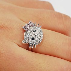 Ready To Ship And In Stock !!!  This Item Will Be Place In The Mail To You On The Next Business Day !!!  Shipping Is First Class Mail You Get Your Order May Be Next 5 Day !!!  Hello Kitty Ring Made Of