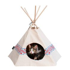Cat Tipi: Wren Tipi, at 46% off!-- and why can't sammy cat and grembles have an awesomely designed cat house?!