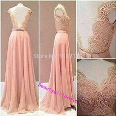 Bg224 Sexy Prom Dress,Lace Prom Dresses,Long Evening Dress,Evening Dresses,Open Back Prom Dress,Chiffon Prom Dress,Prom Dress 2016