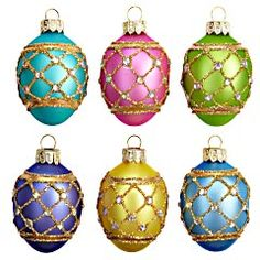 Glass Egg Ornaments Pier One