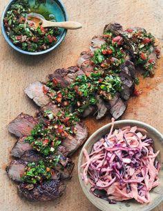 Sharing Steak with Chimichurri & Smoky Slaw