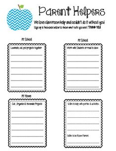 1000+ images about sign up sheets on Pinterest | School volunteers ...