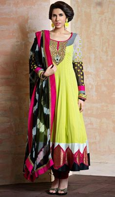 G3fashions Yellow georgette embroidered designer salwar suit Product Code: G3-LSA107169 Price: INR RS 9002