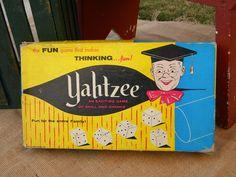 1950's Yahtzee, Vintage Board Game. $17.99, via Etsy.
