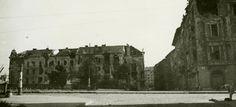 1945 tavasz. Margit híd, budai hídfő, az Árpád fejedelem útja felől fotózva .