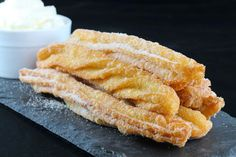There's nothing quite like freshly fried Homemade Mexican Churros. It's flaky and warm and practically melts in your mouth!