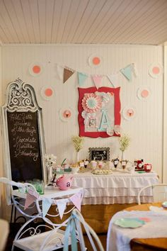 Vintage ICE CREAM SHOP 2nd Birthday Party via Kara's Party Ideas - www.KarasPartyIdeas.com