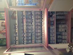 Stockbridge Edinburgh :: A big beautiful cabinet, stocked up with paints galore.    http://laurelgallery.co.uk