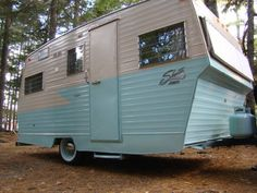 Our camper, we rebuilt all by hand, it took a year, 20 hours a week. 1968 (?!) Shasta Astroflyte