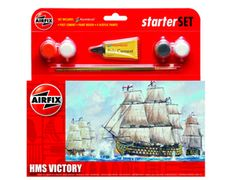 The Airfix HMS Victory Starter Set from the Starter Set range accurately recreates the real life British galleon that served as Lord Nelson's flagship at the Battle of Trafalgar.    This plastic ship kit comes with all the paint and glue required to complete the model.