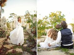 eco chic shoot at the Naples Botanical Garden