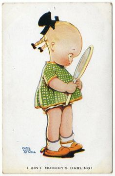 Mabel Lucie Attwell postcard,  YOU ARE MY DARLING