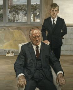 Two Irish Men by Lucien Freud