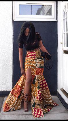 African ankara skirt print prom