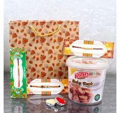 3 Rakhi Set with Cookies