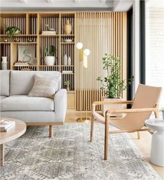 Zoom on kitchen trends 2019 - Home Fashion Trend Home Living Room, Living Room Designs, Living Room Decor, Home Interior Design, Interior Decorating, Room Partition Designs, Japanese Interior, Home Decor, Wood Room Divider