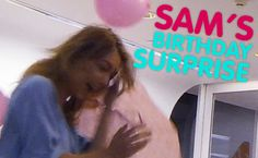 """Sam's Shocking Birthday Surprise! """"Why Are You Oiled Up?!""""  Sam didn't think she was seeing Sasha for her birthday.. Little did she know, she would be seeing a LOT of him!  See more: Sam, Birthday, Sasha, Surprise  In this video: SamFrost, Rove, Sasha"""